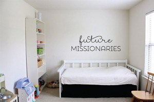 Future Missionaries Vinyl Decal