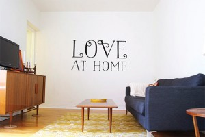Love At Home Vinyl Decal